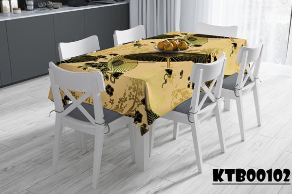 Khăn trải bàn in hình ô