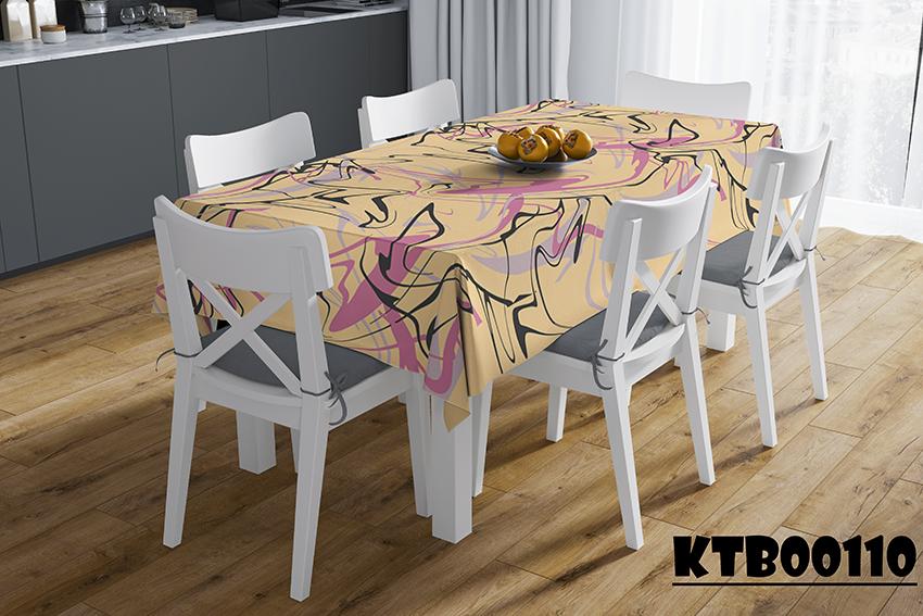 Tấm trải bàn ăn in họa tiết