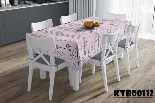 Khăn trải bàn giá rẻ nền hồng nhạt