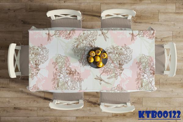 các mẫu khăn trải bàn đẹp họa tiết in hoa