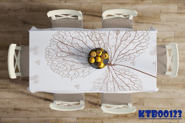 Thảm trải bàn ăn i họa tiết đơn giản