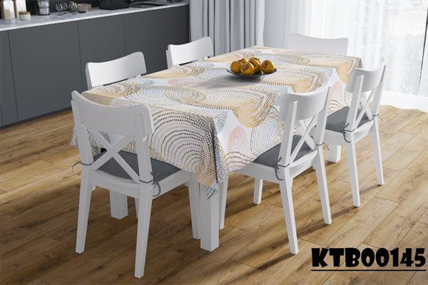 Mẫu khăn trải bàn in họa tiết