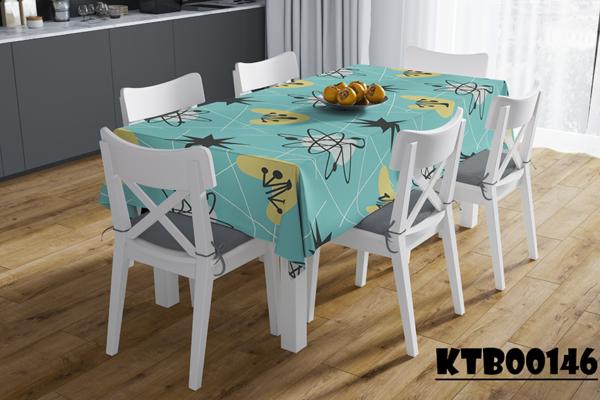 Khăn trải bàn hình chữ nhật in họa tiết