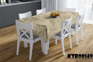 Khăn trải bàn ghế gỗ in họa tiết cổ điển