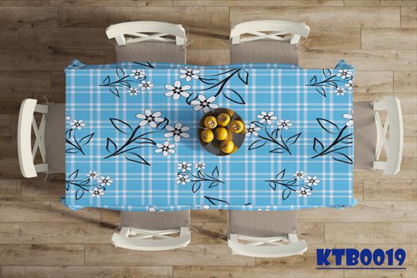 Mẫu khăn trải bàn ăn đẹp in hoa