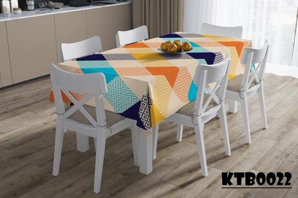 Mẫu khăn trải bàn in màu caro