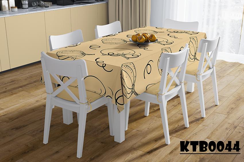 Khăn trải bàn in họa tiết