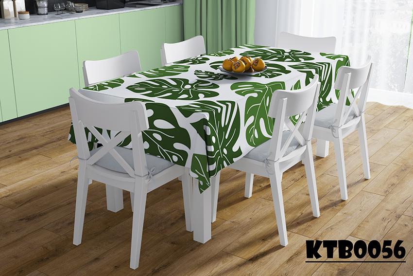 Khăn trải bàn 3D họa tiết cây, hoa lá
