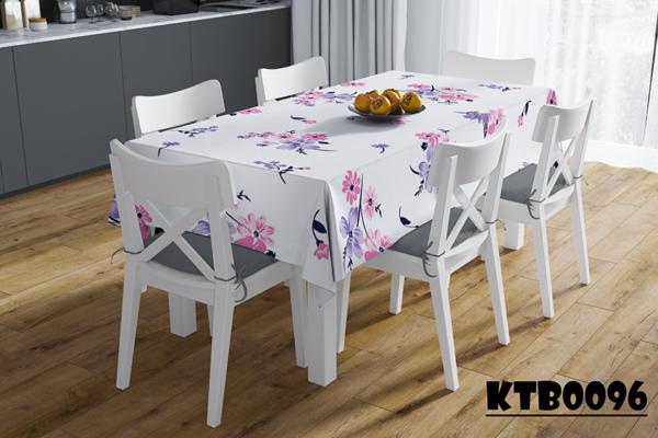 Khăn trải bàn phòng khách in hoa