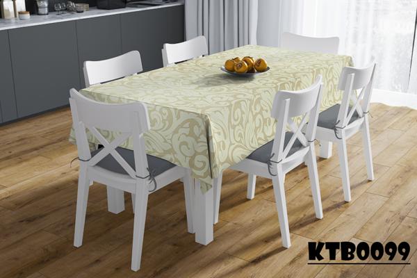 Khăn trải bàn dài in họa tiết