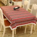Các mẫu khăn trải bàn đẹp in họa tiết thổ cẩm