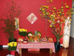 Khăn trải bàn ăn caro trắng đỏ