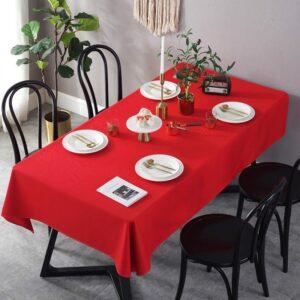Khăn trải bàn ăn màu đỏ