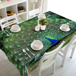 Khăn trải bàn con Công